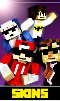 Skins Youtubers For Minecraft APK Download Free Entertainment APP - Skins para minecraft youtubers