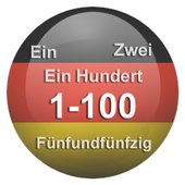 1-100 German numbers light icon
