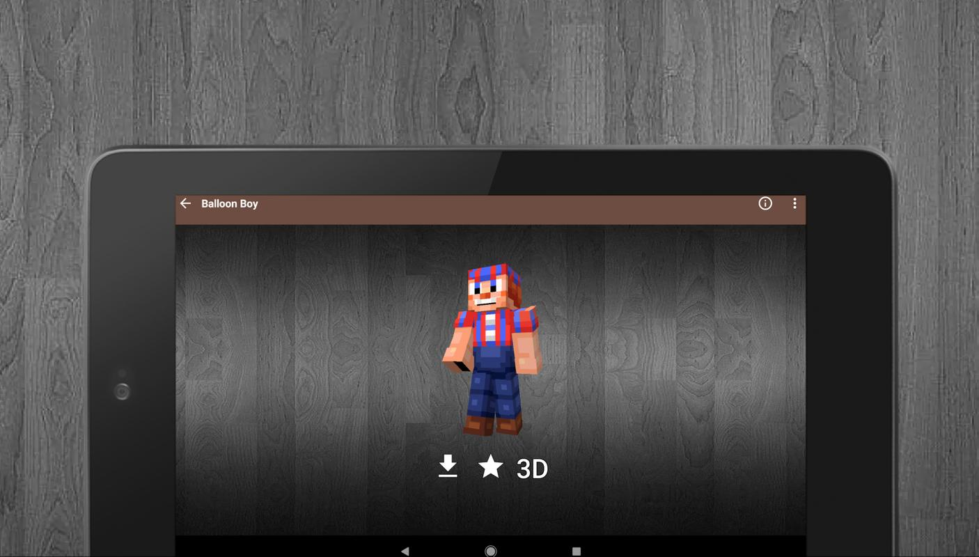 FNaF Skins And Sister Location For Minecraft For Android APK Download - Skins para minecraft pe greninja
