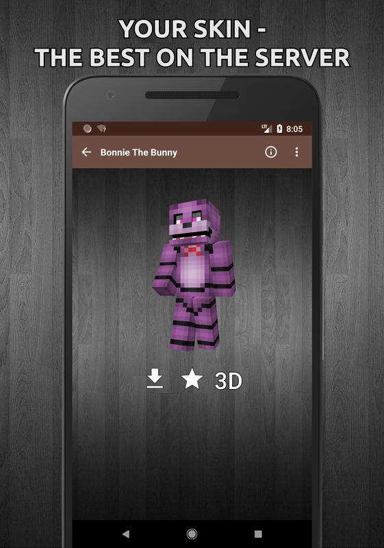 FNaF Skins And Sister Location For Minecraft For Android APK Download - Skins para minecraft 1 8 4