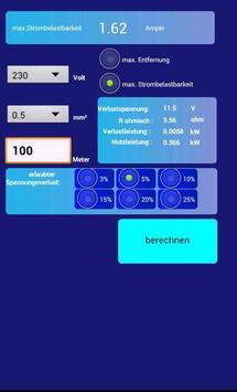 Kabelquerschnitt Calc screenshot 1