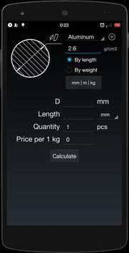 Metal Weight  Calculator screenshot 1