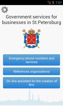 Government services in SPb poster