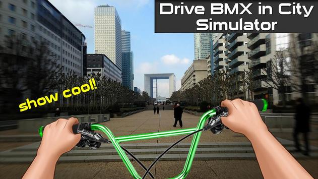 Drive BMX in City Simulator poster