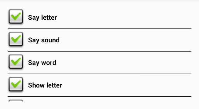 The alphabet for children screenshot 1