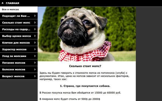 Мопс - выбор собаки screenshot 4