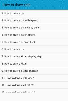 How to draw cats poster