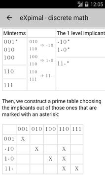 eXpimal - discrete math 截圖 5