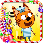 Three Cats Jump kids games icon