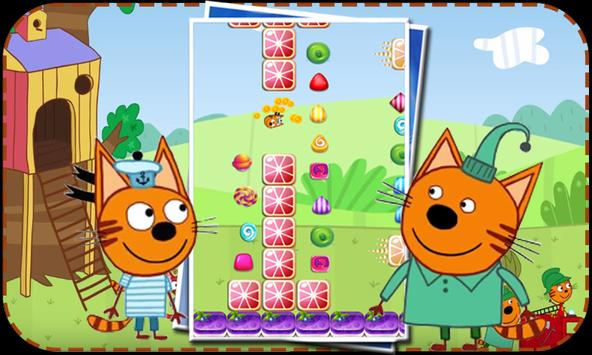 Three Cats Jump kids games poster