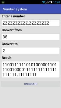 Numeral system converter screenshot 1