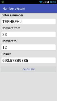Numeral system converter screenshot 2