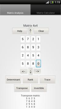 Matrix Calculator and Analysis apk screenshot