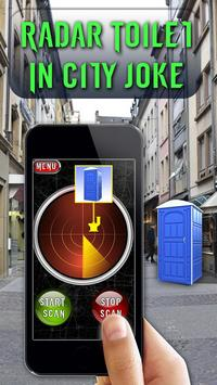 Radar Toilet In City Joke poster