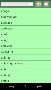 Cebuano English dictionary screenshot 4