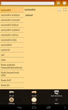 English Czech dictionary apk screenshot