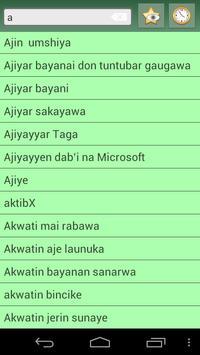 English Hausa dictionary apk screenshot