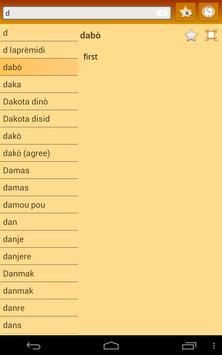 English Haitian Creole dict apk screenshot