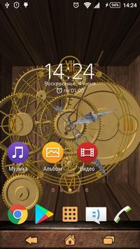 3D Clock live wallpaper poster