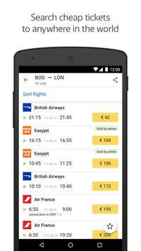 Yandex.Flights poster