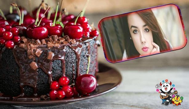 Birthday Cake Photo Frame poster