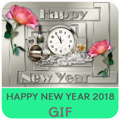 New Year 2018 GIF icon