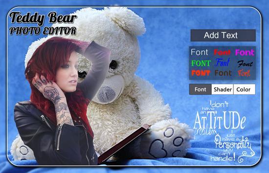 Teddy Bear Photo Editor screenshot 1