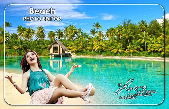 Beach Photo Editor poster