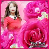Pink Rose Photo Editor icon