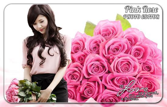 Pink Rose Photo Editor poster