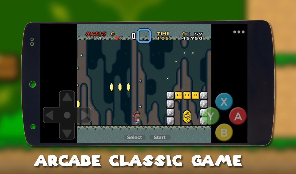 NEW Super Mario World, SNES Classic run & Retro for Android