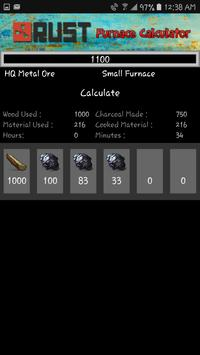 Rust Furnace Calculator screenshot 3