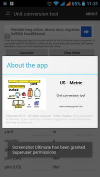 US - Metric unit conversion apk screenshot