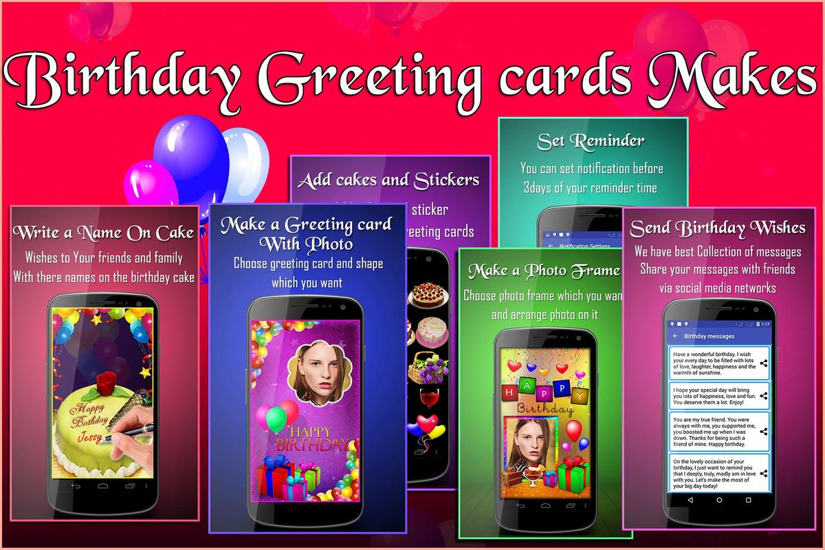 Birthday Greeting Cards Maker Photo Frames Cakes Apk Download