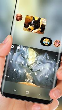 Wolf Keyboard Silver Wolves Snow Winter apk screenshot