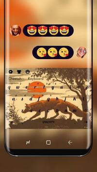 Wolf Backgrounds Theme Keyboard Sun poster