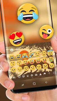 Wolf Backgrounds Theme Keyboard Sun apk screenshot