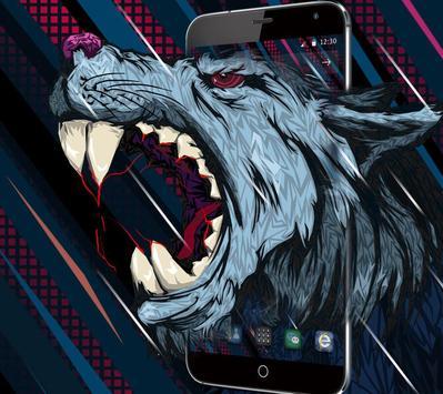 Roar Blood Wolf wallpaper poster