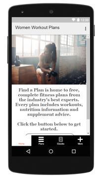 Women Workout Plans poster
