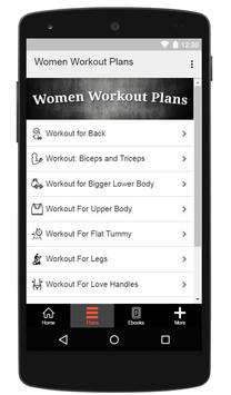 Women Workout Plans screenshot 1