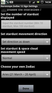 horoscope zodiac 12 sign lwp apk screenshot