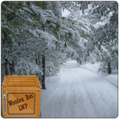 snowfall winter road lwp icon