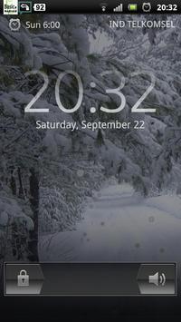 snowfall winter road lwp poster