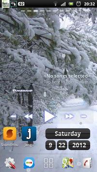snowfall winter road lwp screenshot 2