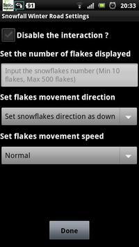 snowfall winter road lwp screenshot 4