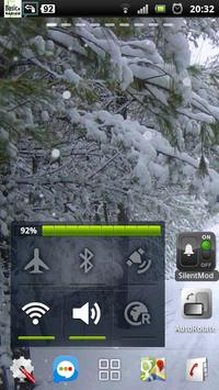 snowfall winter road lwp apk screenshot