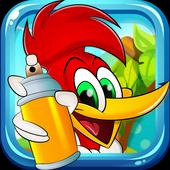The turbo kids Wody: runner woodpecker icon