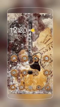 Woody Guitar Launcher Theme apk screenshot