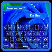 Blue Rose Keyboard Theme icon
