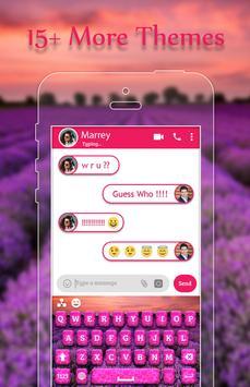 Lavender Keyboard Theme apk screenshot
